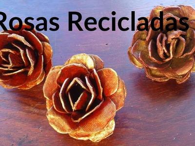Rosas Recicladas de cubetas de Huevo