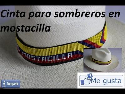 Sombreros de MODA.adorno de cinta en mostacilla