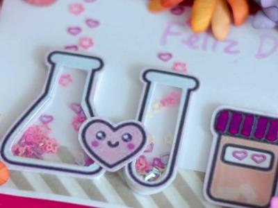 Tutorial: Como hacer una tarjeta agitable. shaker crad para el dia del Químico