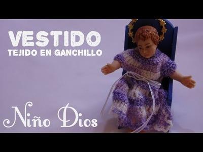 Vestido para el niñito Jesús tejido a crochet