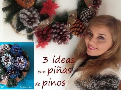 3 ideas para decorar la Navidad con piñas de los pinos