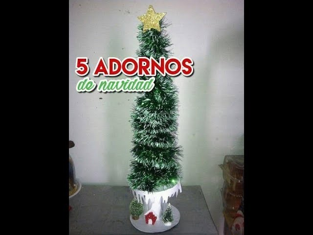 """5 Adornos de Navidad """"baratos y fáciles """""""