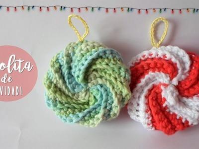 Adorno para el árbol de navidad a crochet muy fácil.