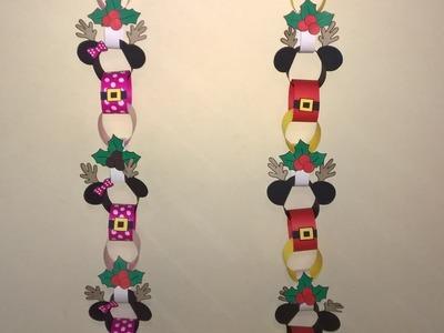 Adornos de Navidad, transformando guirnaldas de cumpleaños de Mickey y Minnie