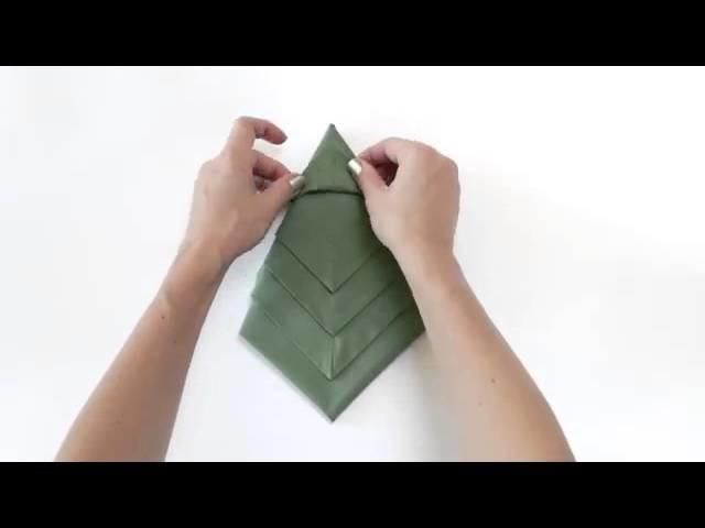 Arbol de Navidad - Como formar la servilleta para tu mesa - instrucciones