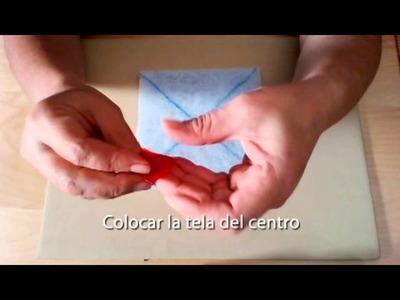 Artepatchwork   El Costurero 1x01 Realizar un bloque log cabin ya acolchado con telas recicladas