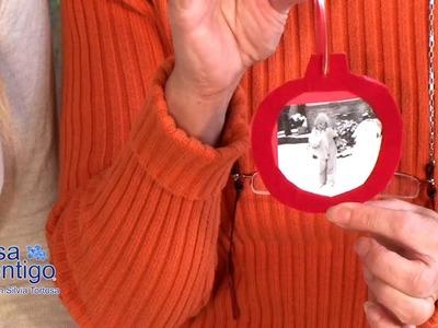 Bolas de Arbol de Navidad con Retratos Familiares