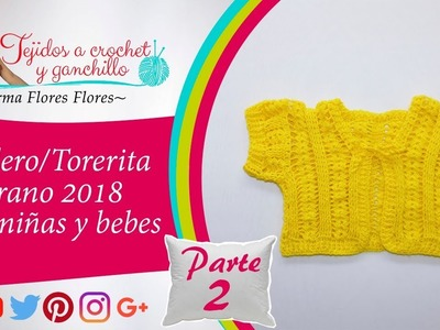 Bolero.torerita manga corta para niñas y bebes tejido a crochet paso a paso
