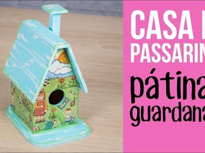 Casa de Passarinho com Guardanapo. Birdhouse with Napkin {con leyendas}