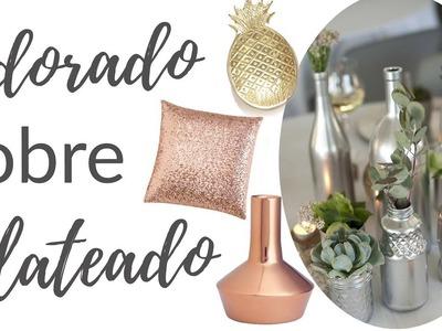 Colores Dorado, Cobre y Plateado para decorar