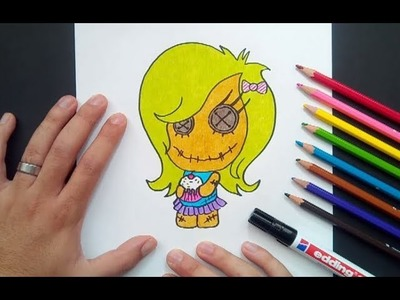 Como dibujar una muñeca paso a paso | How to draw a doll