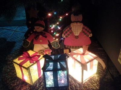 Como hacer regalo con luz 1 parte(How to make gift with light 1 part)