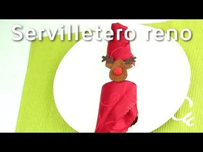 Cómo hacer servilleteros de fieltro en forma de reno | facilisimo.com