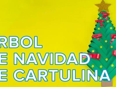 Cómo hacer un árbol de Navidad con cartulina | Manualidad infantil