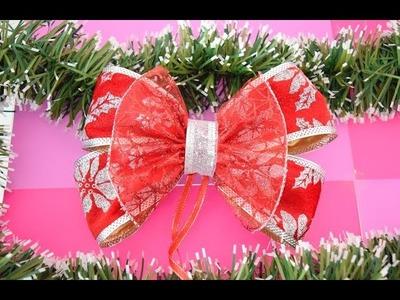 Como hacer un moño navideño. Moño para Navidad - Loveluzlop