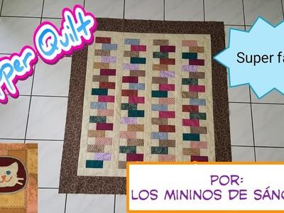 Como hacer una Colcha Fácil (zipper quilt)  patchwork y Quilting