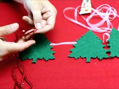 Cómo hacer una guirnalda para decorar tu árbol de Navidad