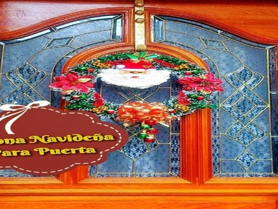 Corona Navideña Para Puerta
