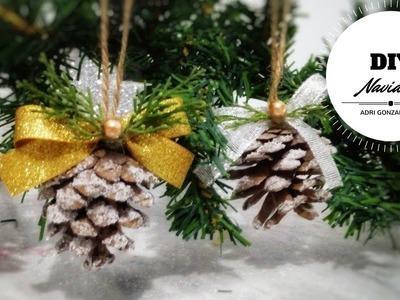 Decoracion de navidad con piñas - ideas para navidad - adornos para arbol de navidad