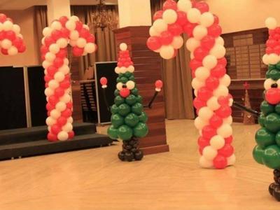 Decoracion de navidad y fin de año con globos castellon