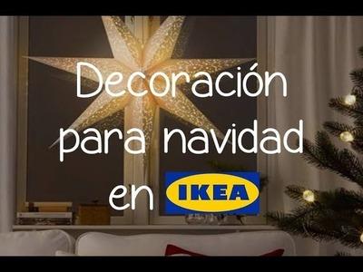 Decoración para navidad en Ikea