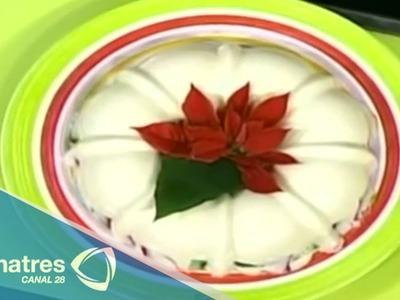 Deliciosa gelatina navideña.  Recetas de postres navideños. Cómo hacer postres navideños