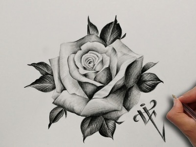Diseño Tatuaje Rosa Realista. Realistic Rose Tattoo Design - Nosfe Ink Tattoo