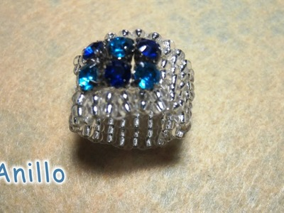 DIY -Anillo de cristalitos azules 2º parte - Ring of blue crystallites 2nd part