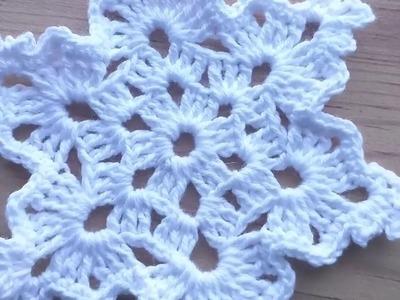 DIY Copito de nieve Glam tejido a crochet