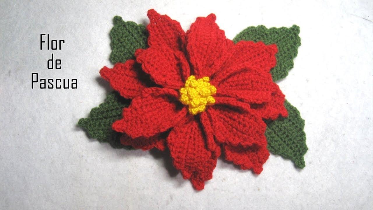 DIY - Flor de Pascua a crochet  DIY - Crochet Easter flower
