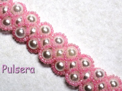 DIY - Pulsera Isabel de perlas y mostacillas rosas DIY - Isabel bracelet of pearls and pink beads