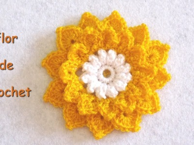 DIY -Tutorial de flor de crochet DIY - Crochet flower tutorial