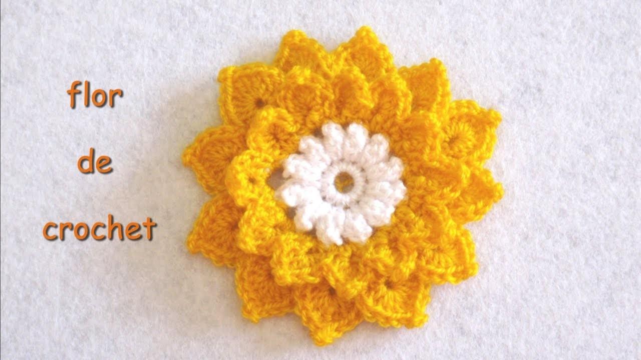 DIY -Tutorial de flor de crochet DIY - Crochet flower tutorial
