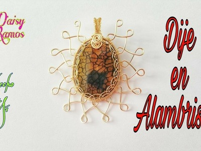 Engaste de Agata en Alambrismo, DIY