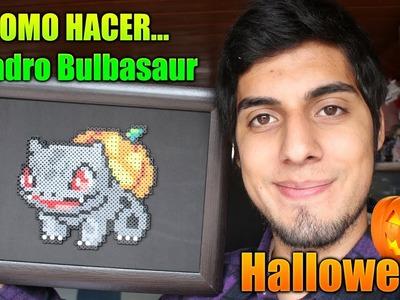 [ESPECIAL HALLOWEEN] Como hacer un Cuadro de Bulbasaur con Hama.Perler Beads