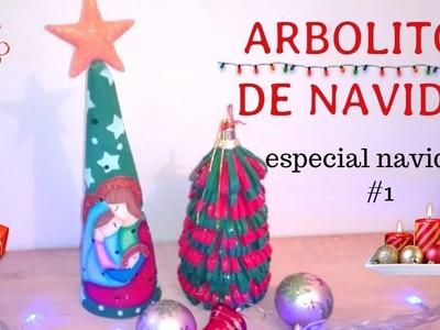 ESPECIAL???? NAVIDEÑO # 1: ARBOLITOS DE NAVIDAD CON FOAMI. FOMI HECHO ARTE