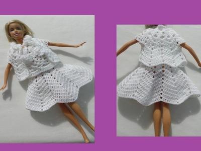 Falda de abanicos para Barbie