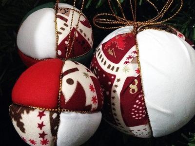 Hacer Bolas de Tela para el árbol de Navidad
