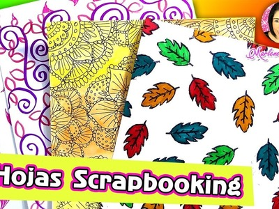 Hagamos Papeles Decorados Scrapbook por DIY con Marlene Campos
