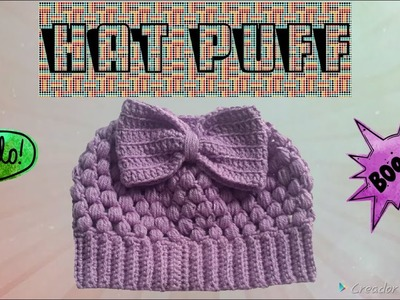 Hat Puff Crochet 1
