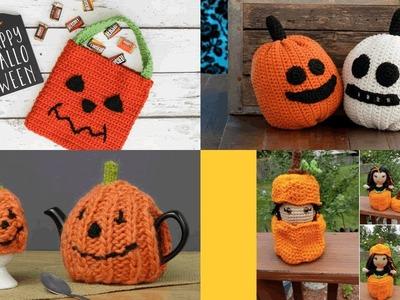 Ideas para halloween calabazas tejidos crochet