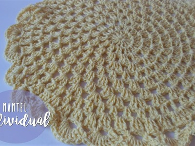 Mantel individual a crochet | crochet table mat