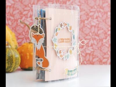 Mini álbum otoñal con la colección Miel&Cannelle de Toga París