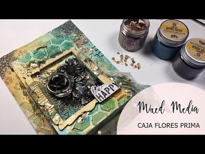 Mixed media - Caja flores Prima alterada