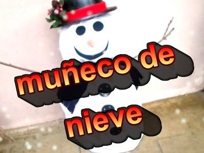 Muñeco de nieve adorno para navidad (snowman)