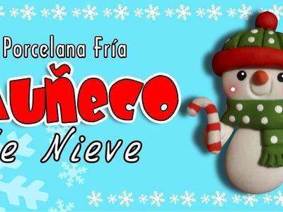 Muñeco de Nieve en porcelana fría. Snowman in cold porcelain. Patty Creativa