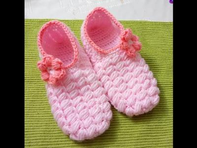 Pantunflas de cama a Crochet Versión (ZURDO)