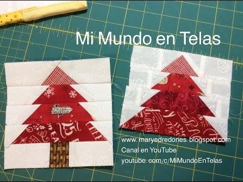 Pino en Paper Piecing - Técnica con Papel