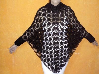 Ponchito de Hojas 2da Parte (Crocheteando con la Comadre)