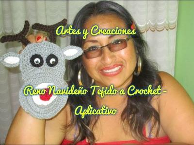 RENO NAVIDEÑO TEJIDO A CROCHET